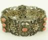 Bransoletka srebrna z koralami piękna bransoletka, złocona bransoletka