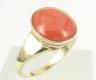 Pierścionek złoty - Model PZ129 Pierścionek złoty, pierścionek z koralem, pierścionek na prezent, pierścionek zaręczynowy, pierścionek urodzinowy, pierścionek z okazji, tani pierścionek<br>