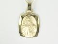 Medalik - Model MZ30 złoty medalik, pamiątka chrztu, pamiątka Komunii Świętej, Matka Boska