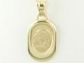 Medalik - Model MZ33 Matka Boska, Medalik złoty, pamiątka chrztu, pamiątka Komunii Świętej