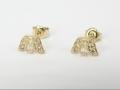 Kolczyki złote - Model KZ139  Kolczyki na prezent, kolczyki na chrzest, tanie kolczyki, kolczyki z okazji, kolczyki w promocji