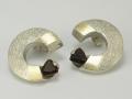 Kolczyki srebrne - Model GK27 kolczyki ze srebra,kolczyki srebrne,kolczyki artystyczne,kolczyki z kamieniami,kolczyki z granatem,wyjątkowe kolczyki