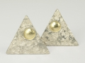 Kolczyki srebrne - Model GK26 kolczyki ze złotem,kolczyki srebrne,kolczyki artystyczne,wyjątkowe kolczyki,kolczyki na sztyft