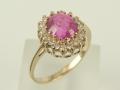 Pierścionek złoty - Model  15/1/2011 piękny pierścionek,pierścionek ze złota,pierścionek z cyrkoniami,pierścionek zaręczyny,pierścionek z kamieniem różowym